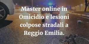 Master online in Omicidio colposo stradale a Reggio Emilia.